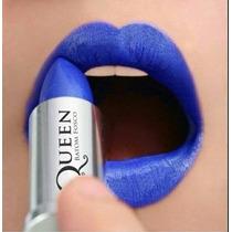 Batom Fosco Queen Matte Stilo - Display 30 Batons Preto Azul