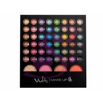 Paleta Sombras Studio 3d 48 Cores Blush Iluminador Vult