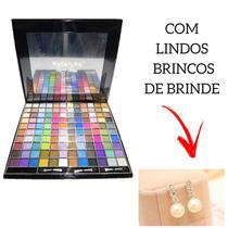 Paleta Profissional 120 Cores Mac Maked Kit Maquiagem Brinde