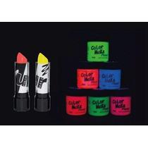 Kit 2 Batons E 6 Tintas Maquiagem Artpistica Neon Fluor