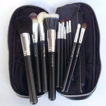 Kit Pincel De Maquiagem Profissional 12 Peças