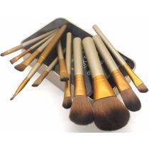 Kit Maquiagem Profissional Naked3 12 Pinceis Envio Do Brasil