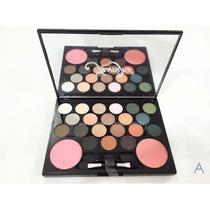 Kit Completo Maquiagem. 20 Sombras Fosca + 2 Blushes Jasmyne
