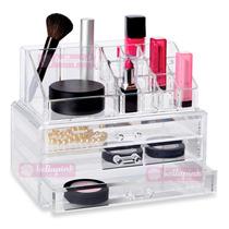 Organizador Maquiagem Acrílico Importado Maleta Frete Gratis