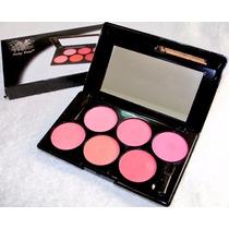 Paleta De Blush Ruby Rose Com 6 Cores Hb-9218