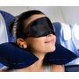 Kit Viagem 3 Em 1 Travesseiro Masc.de Dormir + Tapa Ouvidos