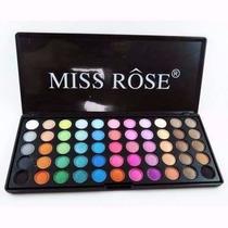 Paleta Miss Rose Colorida 55 Cores De Sombras Lindíssimas