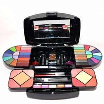Maleta Kit De Maquiagem Completo Sombra Blush Luisance Ma657