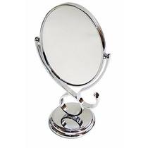 Espelho De Mesa Maquiagem Depilação Aumento 5x Giratorio