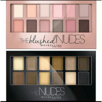 Paletas De Sombras Maybelline The Nudes + The Blushed Nudes