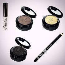 Kit Maquiagem Olhos Esfumaçados Yes Cosmetics Sombras Lápis