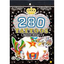Tatuagem Temporária Kit Para Festa Fantasia Águia Rock Roll