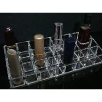 Organizador Em Acrílico Porta Batom/maquiagem 24 Divisórias
