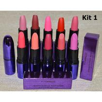 Maquiagem Batom Matte Mac Kit 10 Unidades. Produto De Beleza