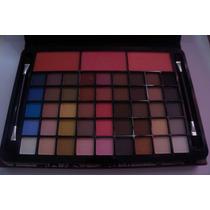 Kit Maquiagem Jasmyne Luisance 45 Sombras + 3 Blush + Pincél
