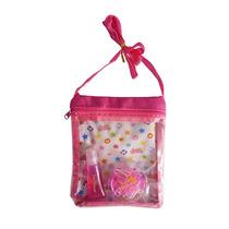 Kit Infantil Bolsa Com Gloss/batom E Elastico Para Cabelo