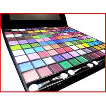 Super Kit De Maquiagem Sombra 120 Cores Ruby Rose +3 Brindes