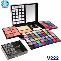 Estojo Maquiagem Paleta Blush Sombra 3d Jasmyne Lapis Gratis