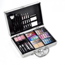 Kit Completo Maleta Aluminio Maquiagem 3d Jasmyne 63 Itens