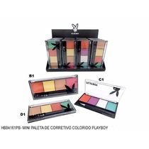 Mini Paleta Corretivo Colorido Playboy Maquiagem 4 Cores