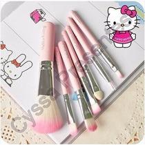 Lindo Kit De Pincéis Hello Kitty 7 Unidades Pronta Entrega!