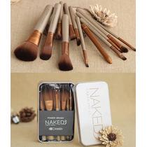 Kit 12 Pincéis Naked 3 Power Brush Importado + Estojo