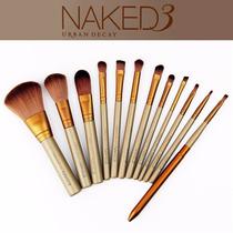 Kit Pincel Naked 3 Para Maquiagem 12 Peças Sem Estojo