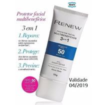 Renew Protetor Solar Facial Matte Fps50 - 50ml - Avon