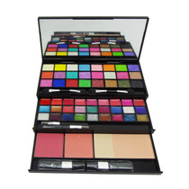 Kit Maquiagem Sombras 3d Blush Batom Estojo Espelho Jasmyne