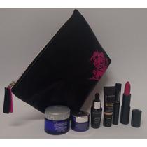 Lancome Necessaire Preta Com 6 Produtos Faciais E Maquiagem