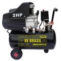 Compressor De Ar 25l 8,5 Pés 2hp Monof. Bivolt - V8 Brasil