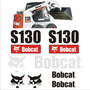 Kit Adesivos Bobcat S130 Kit Completo