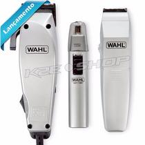 Kit Home Grooming Wahl Maquina Cortar Cabelo E Aparador 110v