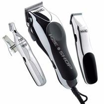 Maquina De Cortar Cabelo E Aparador Wahl Home Barber Kit110v