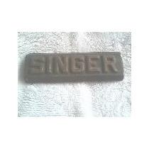 Etiqueta Emblema De Ferro Fundido Máquina Singer