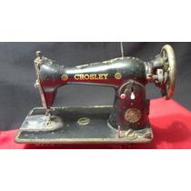 Máquina De Costura Antiga Crosley Decoração Antiguidade