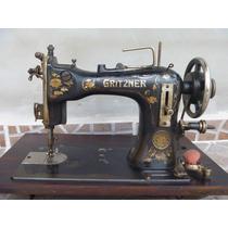 Maquina De Costura Antiga Gritzner Ñ Singer Clemens Manivela
