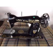 Maquina De Costura Elgin Com Motor Funcionando