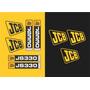 Kit Adesivos Jcb Js 330 Lc - Decalx