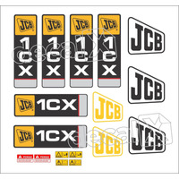 Kit Adesivos Jcb 1cx - Decalx