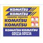 Kit Adesivos Komatsu Gd523a - Decalx