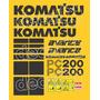 Kit Adesivos Komatsu Pc200 Avance - Decalx