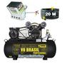 Projetor Argamassa 4.9 Kit3 + Compressor 10pés/100 L - 1 Ano