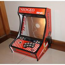 Gabinete Mini Fliperama Bartop Neo Geo Sem Botões Furado