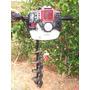 Perfurador De Solo A Gasolina 52cc + Broca 80x20 Cm - Hongda