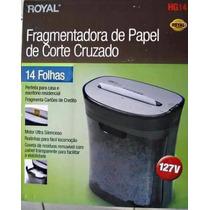 Fragmentadora De Papel Royal Hg14 Folhas Cartões