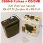 Fragmentadora Trituradora Papel Cd/dvd 8 Fls Com Cesto-c800