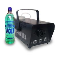 Máquina Fumaça 600w Leds Rgb Controle Sem Fio Dmx + Brinde