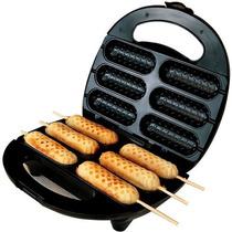 Crepeira Elétrica Máquina Para Crepes E Hot Dogs 6 Cavidades