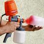 Pistola Pintura Eletrica 28.000 Rpm Mini Compressor 220 V